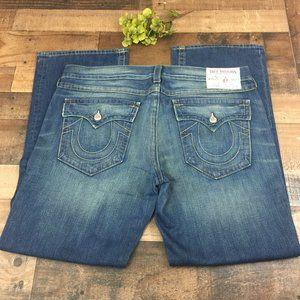 True Religion Ricky Bootcut Blue Jeans